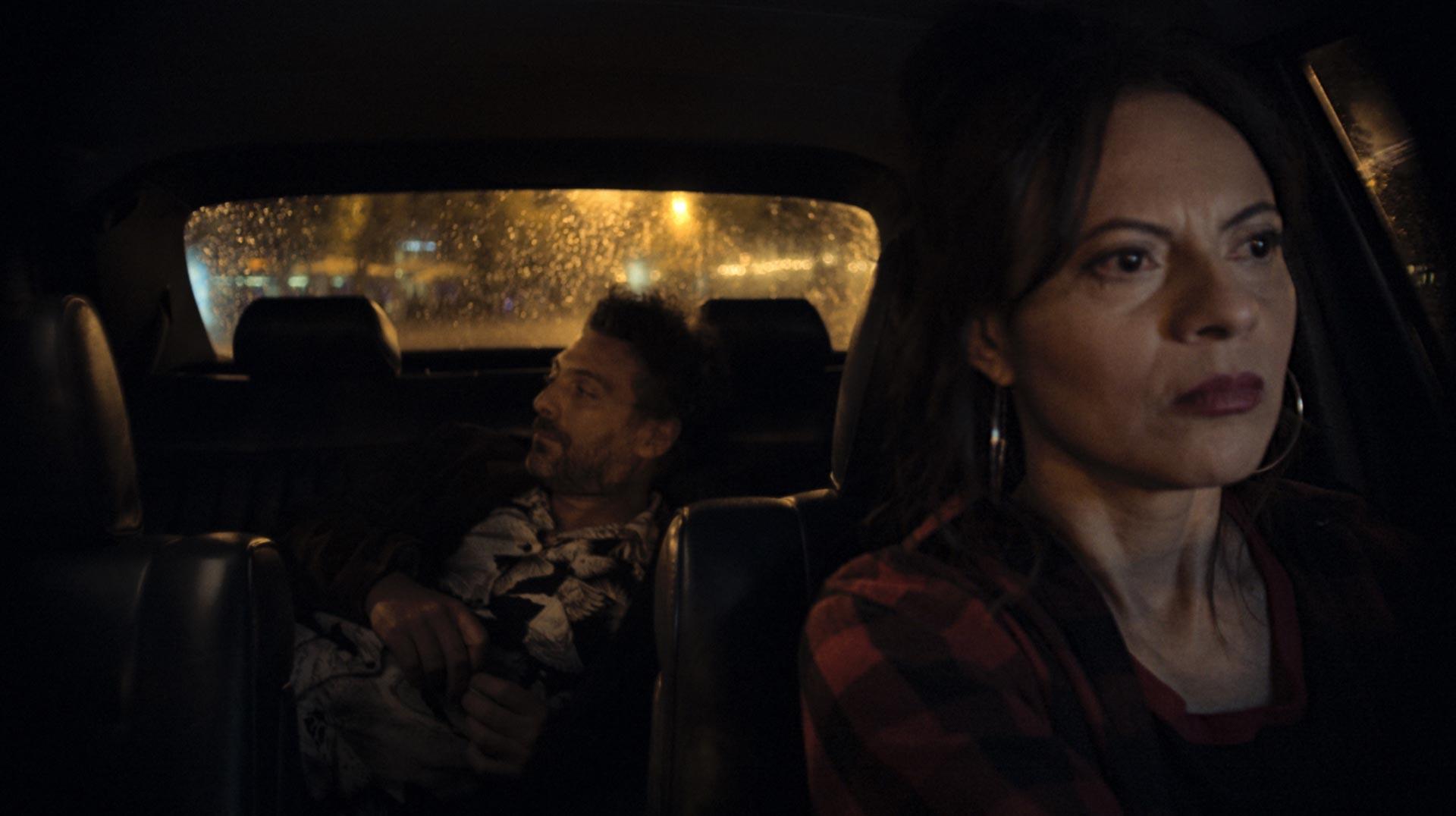 Interior Taxi Noche